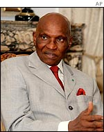 Senegalese President Abdoulaye Wade