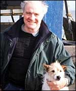 Rick Stein and his dog