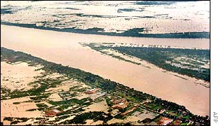 Flood waters in Cambodia's Mekong Delta