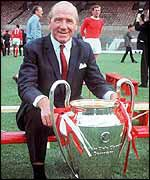 Sir Matt Busby with the European Cup in 1968