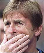 A worried-looking Kenny Dalglish