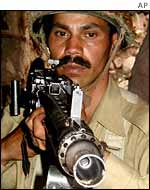 A Pakistani soldier