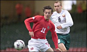 Simon Davies scored a superb individual goal to open his account for Wales