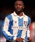 Striker Lomana LuaLua began his professional career at Colchester