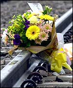Flowers for crash victims