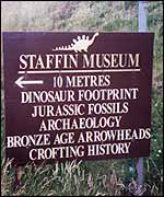 Staffin Museum sign
