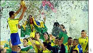 Brazil celebrate World Cup win