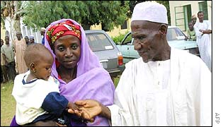 Amina Lawal and her step-father