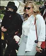 Michael Jackson with ex-wife Debbie Rowe