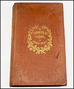 One of the three first edition copies of Charles Dickens A Christmas Carol