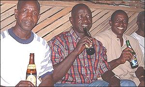 Drinkers in Freetown