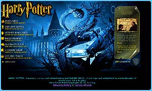 The updated official Harry Potter website