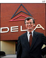 Leo F Mullin, president and chief executive of Delta Air Lines poses at the company's Atlanta headquarters.