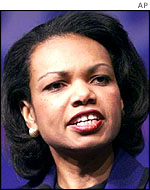 US National Security Advisor Condoleezza Rice