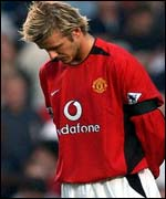 Manchester United's David Beckham during the minute's silence