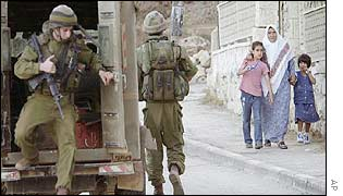 Israeli troops in Ramallah