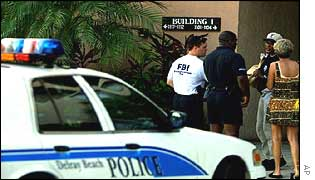 FBI officers in Florida shortly after the 11 Sept attacks