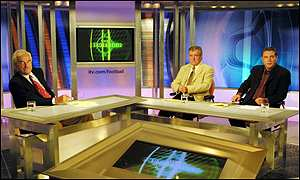 Premiership panel Des Lynam, Ally McCoist and Terry Venables