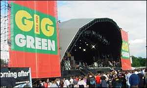 Gig on the Green stage