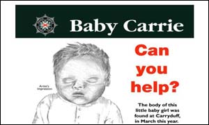 Police have issued an artist's impression of the baby