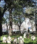 Graveyard at St Paul's church  ( picture courtesy of www.trinitywallstreet.org )