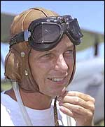 David Gower before his Tiger Moth stunt