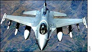 US F-16 warplane over Iraq