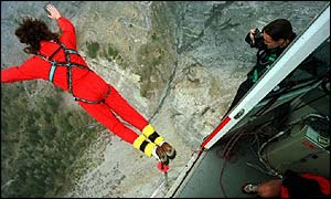 The sport of bungee jumping