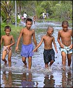 Children on Tuvalu