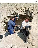 Excavations near Qumran, Israel