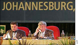 Tribune at Johannesburg summit