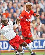 El Hadji Diouf in action against Southampton