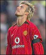 David Beckham composes himself before a game