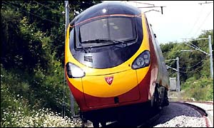 Virgin's tilting train