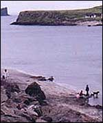 Skye beach where the footprints were found