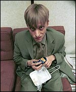 Mackenzie Crook in the office