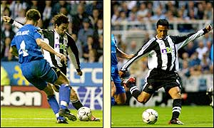 Viana scores his first goal for Newcastle