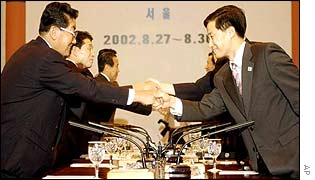 Meeting between delegates from North and South Korea, Seoul