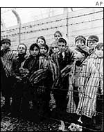 Jews at Auschwitz concentration camp