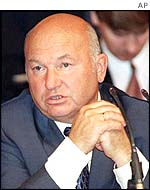 Yuri Luzhkov, mayor of Moscow