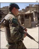 Member of the ISAF peace-keeping force in Afghanistan