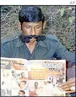 File photo of Veerappan at an undisclosed location