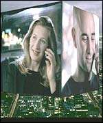Andre Agassi and Steffi Graff in an advertising campaign for T-mobile