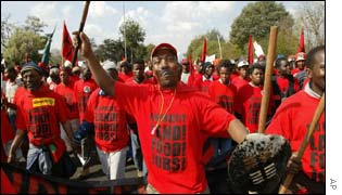 Members of South Africa's Landless People's Movement