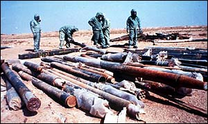 Sarin-carrying missiles were destroyed after the Gulf War