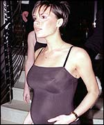 Victoria Beckham while pregnant with Brooklyn