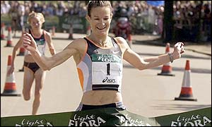 Ireland's Sonia O'Sullivan competed in the Dublin Marathon in 2000