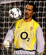 Arsenal goalkeeper David Seaman