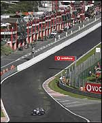Juan Pablo Montoya at Eau Rouge this year