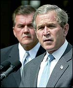 President Bush with Tom Ridge